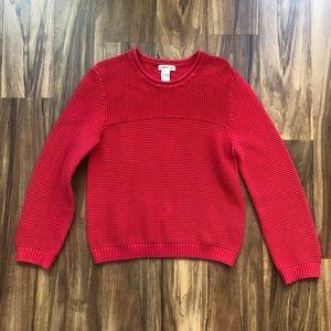 Orvis 100% Cotton Crew Neck Pullover Sweater